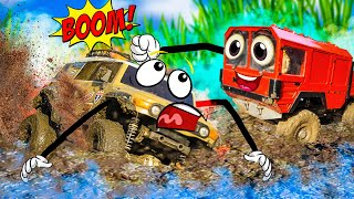 Smash and Crash RC Cars MUD Challenge — Funny Video for Kids and All Family