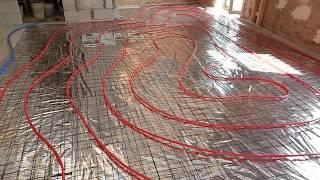 Стяжка пола в здании с деревянным перекрытием. Тёплый пол. (видео №4)
