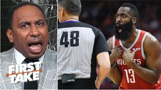 'I don't want to hear that now!' – Stephen A. rips Rockets for complaining about refs   First Take