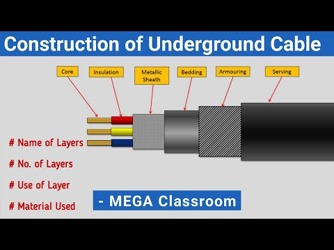 Underground Cable | Underground Cable in Hindi | construction of UG cable | XLPE cable construction