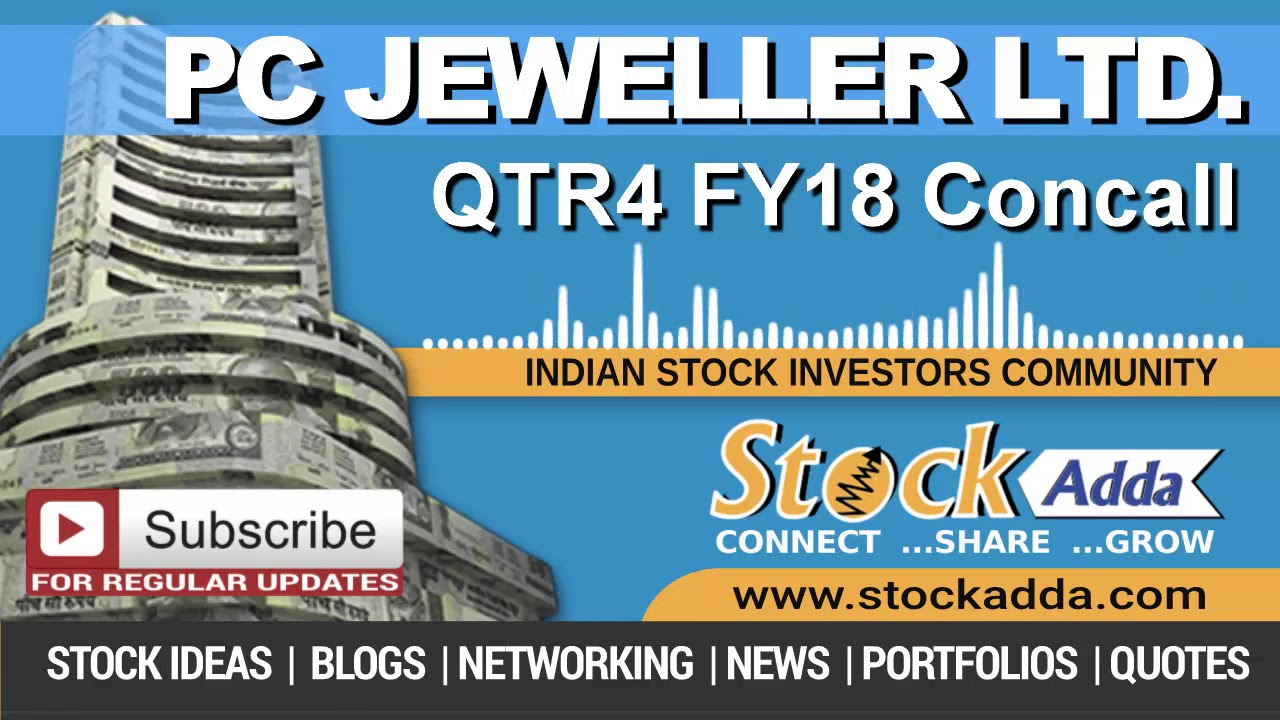 PC Jeweller Ltd Investors Conference Call Qtr4 FY18