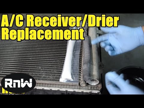 replace  desiccant element receiver drier   ac condenser youtube