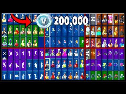 HOW MUCH MONEY HAVE I SPENT ON FORTNITE? (200,000 V BUCKS!) | My Full Locker(80 Skins!)