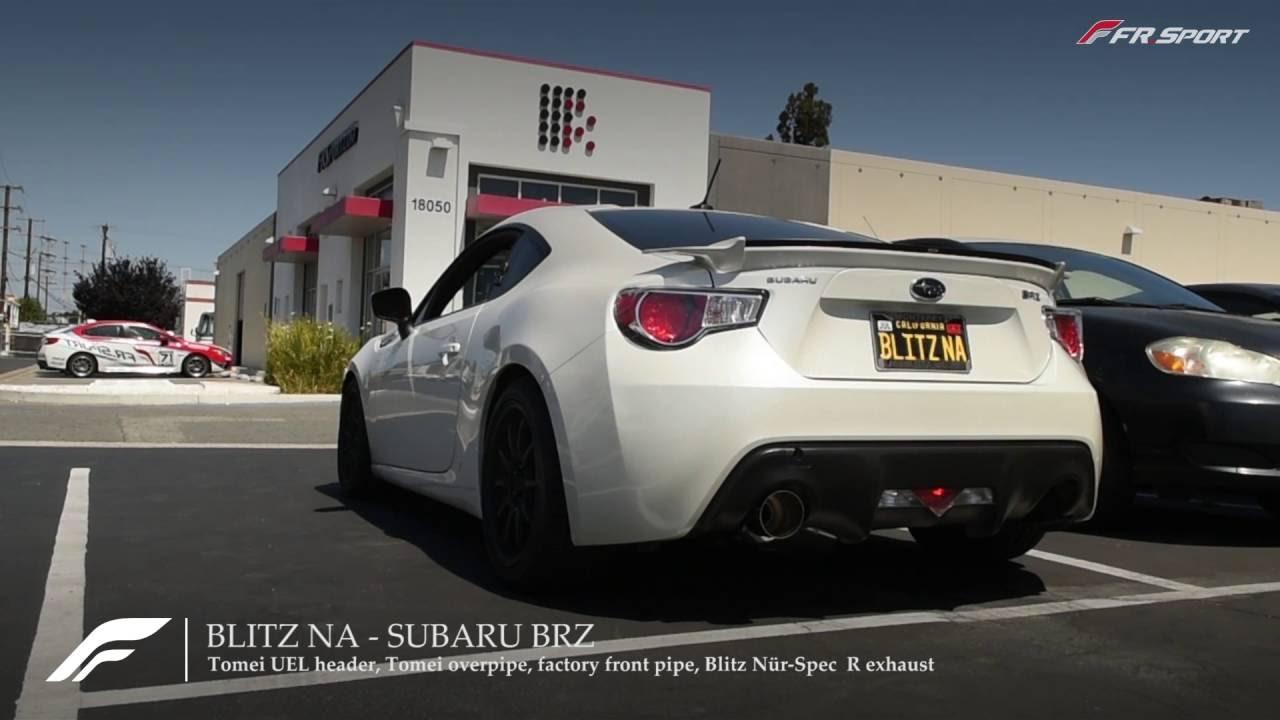 Blitz Nur-Spec R exhaust w/ Tomei UEL header Scion FRS Subaru BRZ sound clip