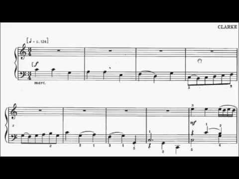 ABRSM Piano 2015-2016 Grade 2 A:4 A4 Clarke A Trumpet Minuet Sheet Music