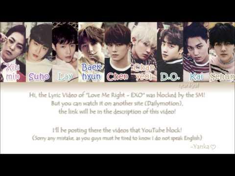 EXO - Love Me Right (Korean ver.) (Color Coded Han Rom Eng Lyrics)