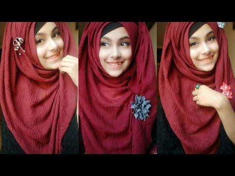 Everyday simple hijab tutorial    Noshin Nower ❤