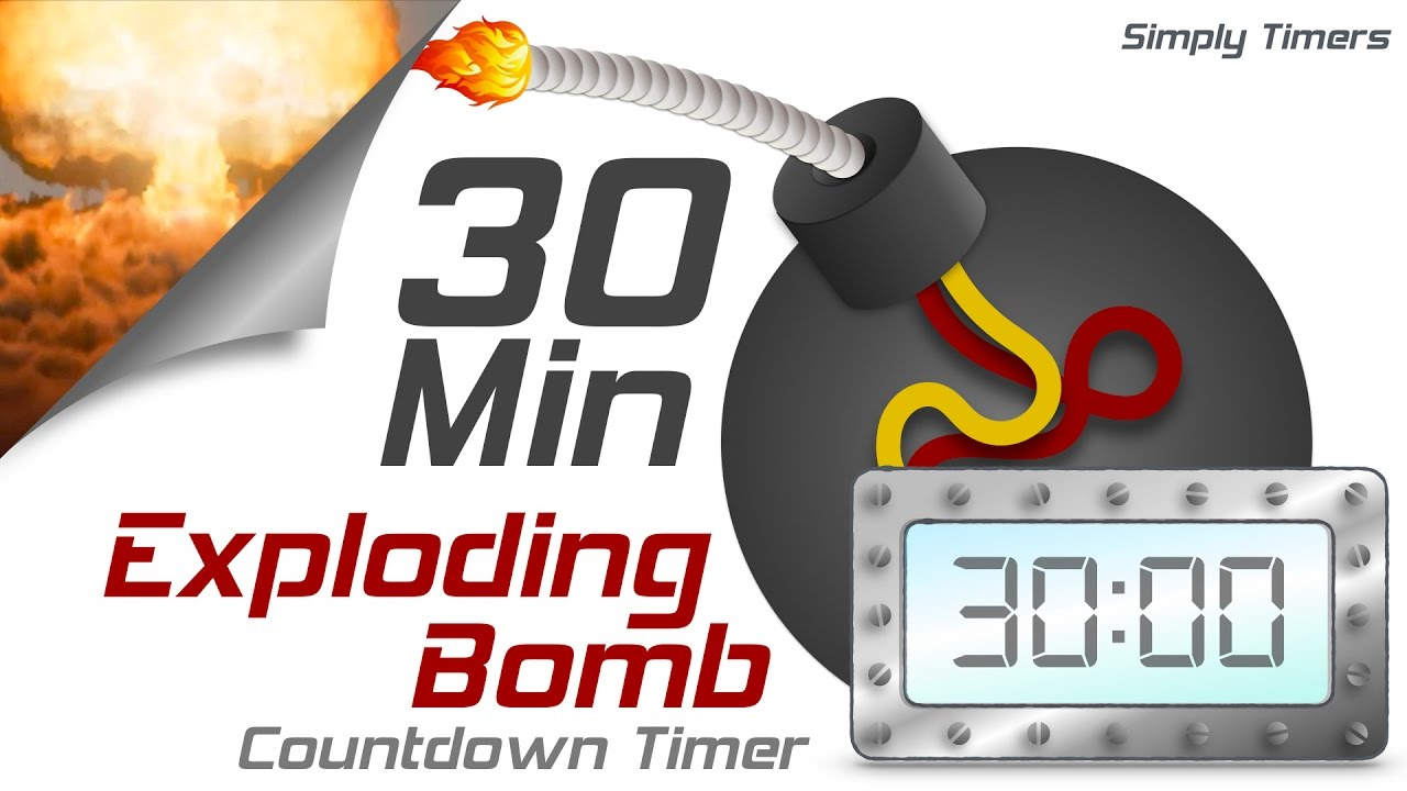 30 min exploding countdown timer youtube