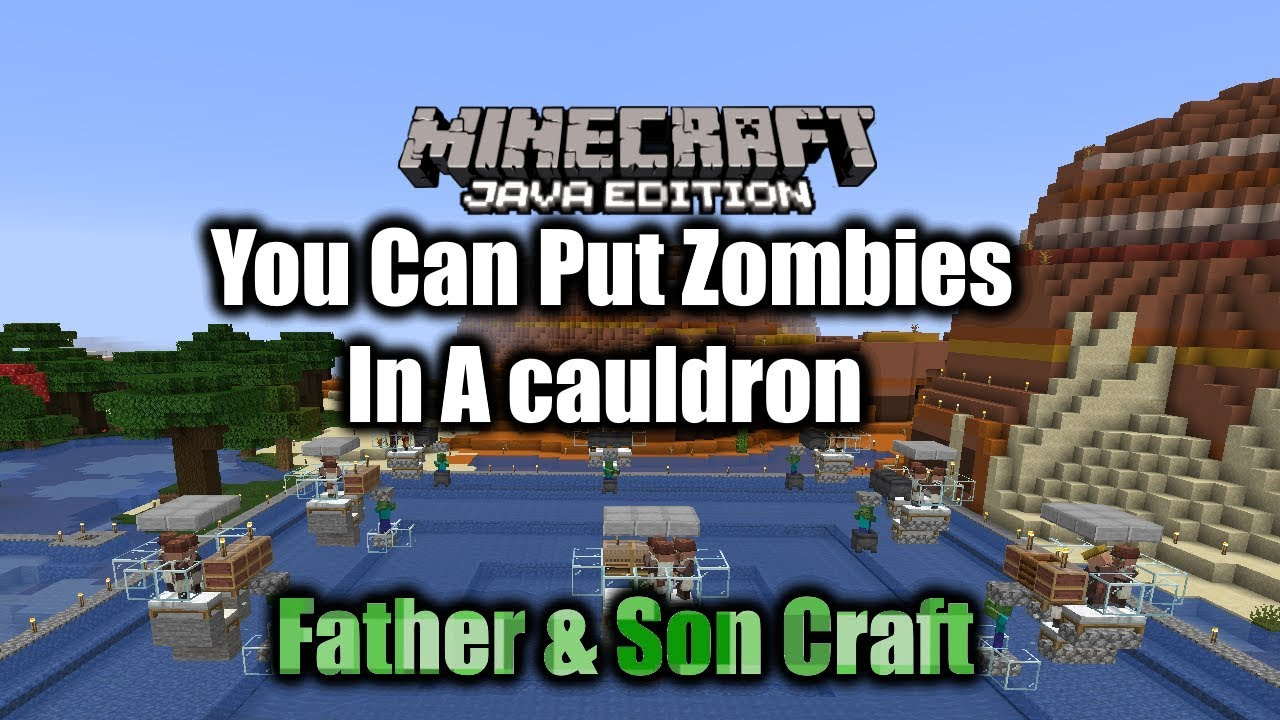 You Can Put A Zombie In A Cauldron Minecraft 11.111.11 - YouTube