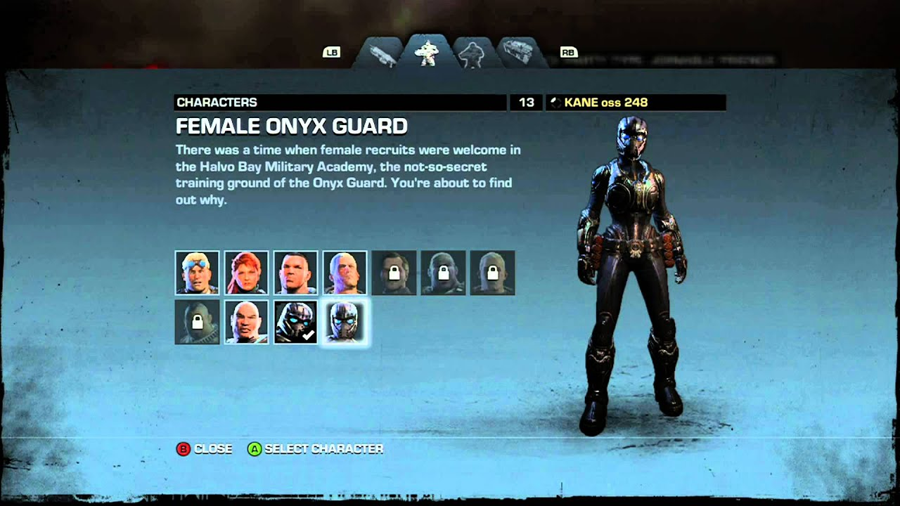 Gears Of War Judgment Vip Characters DLC Male Female Onyx