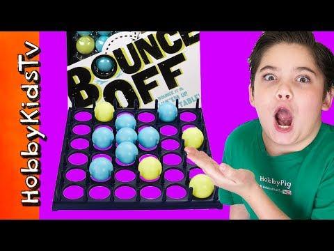 Bounce Off Game! Ping Pong + Family Fun Night HobbyKidsTV