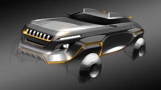 자동차 디자인 렌더링(JEEP CONCEPT DESIGN)