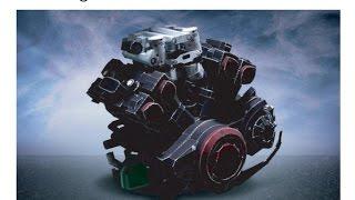 Yamaha V-MAX Papercraft - Parte 01 Motor