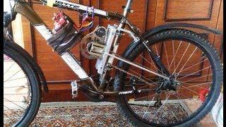 Своими руками электровелосипед 62 км/ч How to make electro bike with his hands 62 km/h(Для поездок на работу мной был собран из подручных материалов электро велосипед, результат моей работы..., 2013-05-20T13:00:49.000Z)
