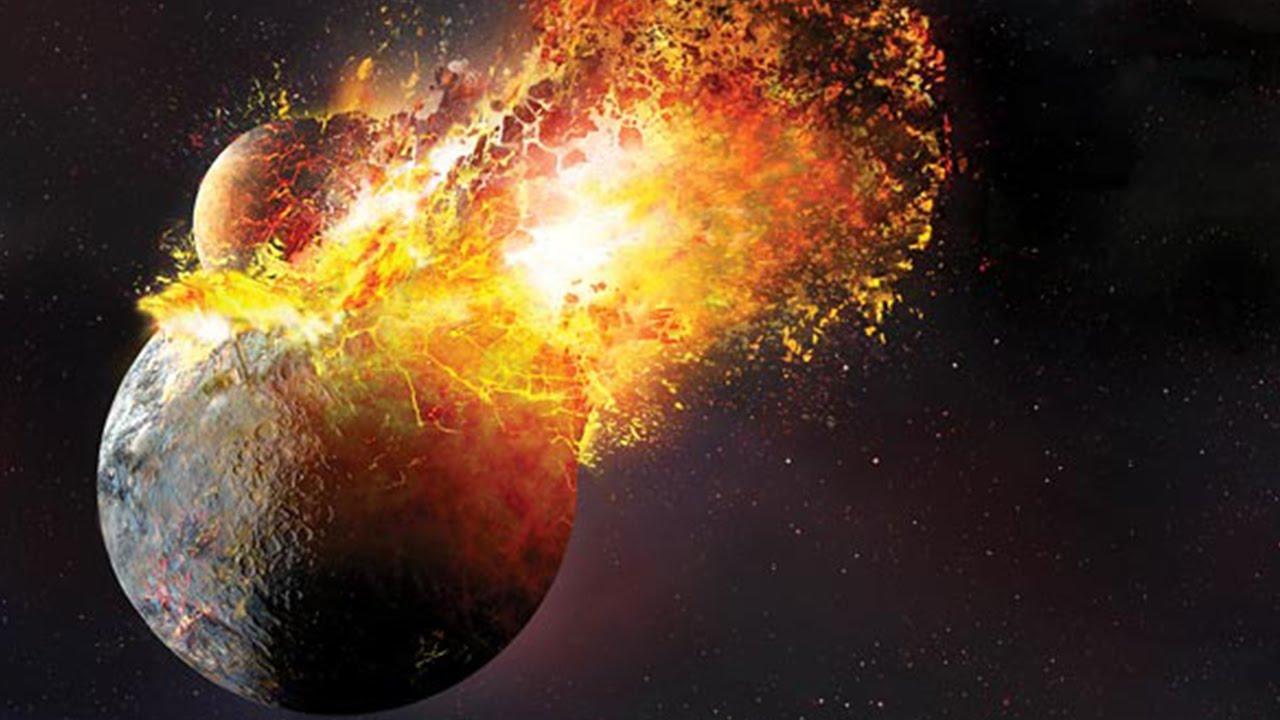 meteor comet and collision impact debris