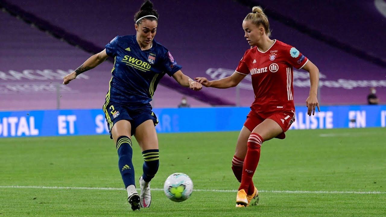 Die Highlights vom UWCL-Viertelfinale der FC Bayern Frauen gegen Olympique Lyon