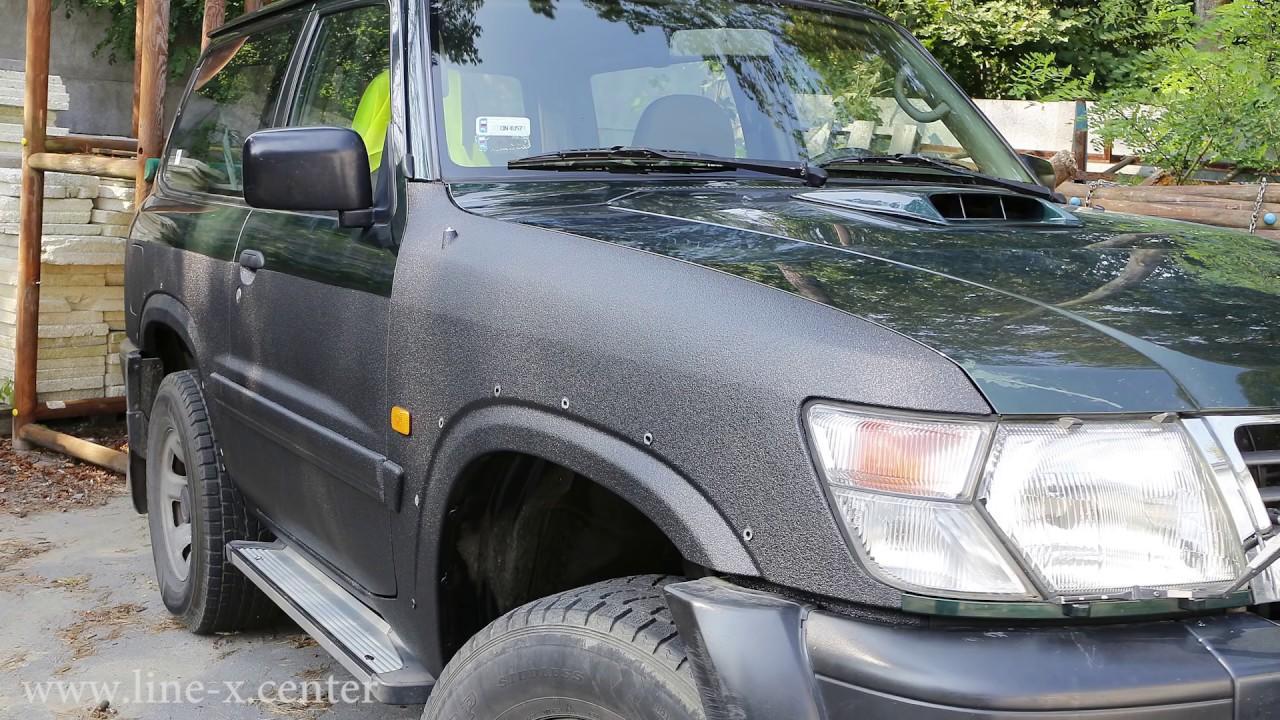 Nissan Patrol - jak wam taki wyjątkowo slaby fabryczny lakier? www.Line-X.Center