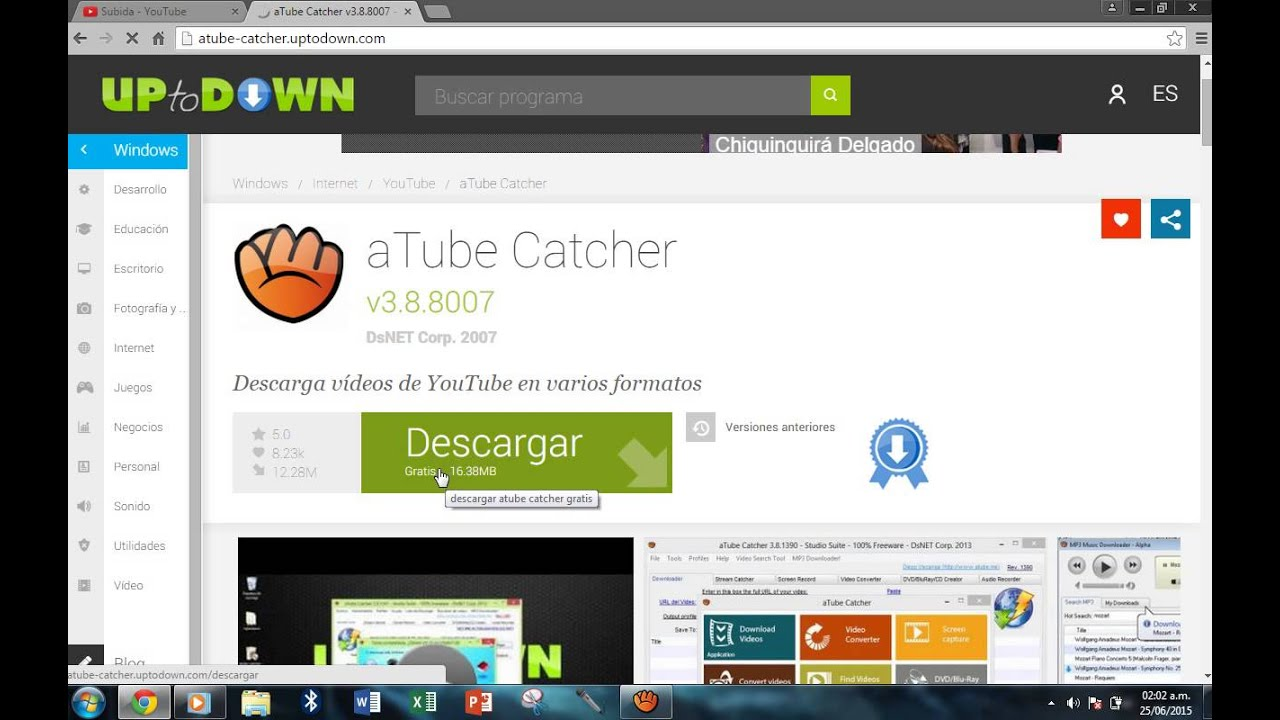 Como descargar aTube Catcher - YouTube