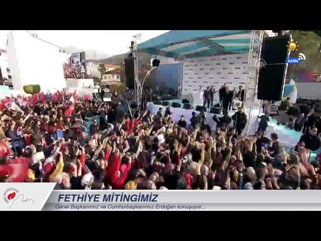 Cumhurbaşkanımız Erdoğan, Fethiye Mitingi'nde konuşuyor...