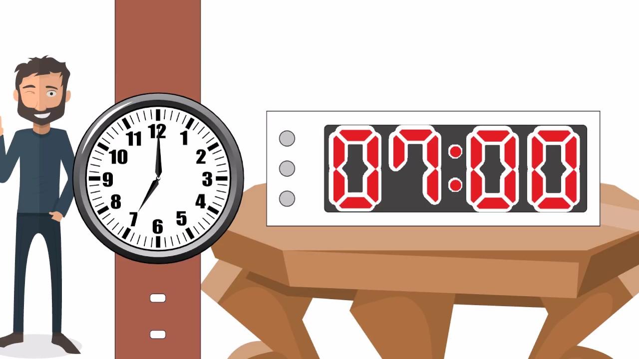 Peter lærer om 12- og 24-timers ure