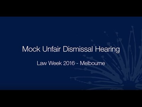 Law Week 2016—Mock unfair dismissal hearing