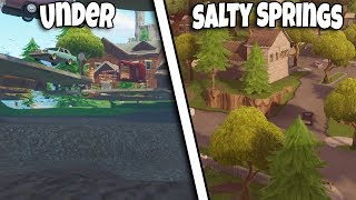 *NEW FAST METHOD* HOW TO GET UNDER THE MAP SALTY SPRINGS | FORTNITE BR GLITCH