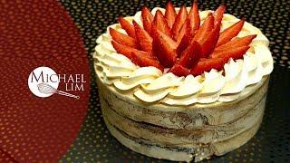 Strawberry Sponge Cake With Butter Cream