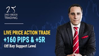 Live Price Action Trade Off Key Support Level +160 Pips & +5R