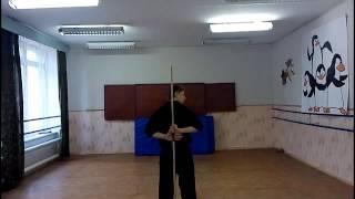 С чего начать фристайл шестом (бо) урок 4(В этом видео мы узнаем как научиться делать заднее вращение шестом (вращение за спиной) Learn how to spin Bo staff behind..., 2015-04-28T06:17:27.000Z)