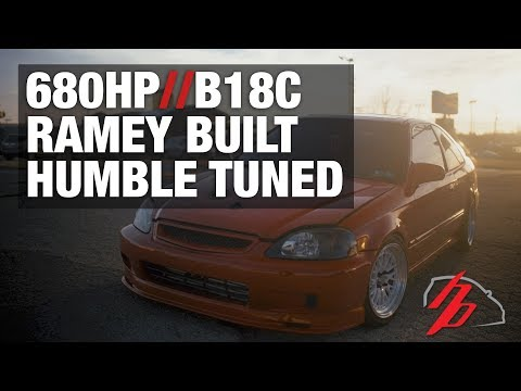 Civic Makes 680HP On The Dyno B18C Turbo Ramey Built