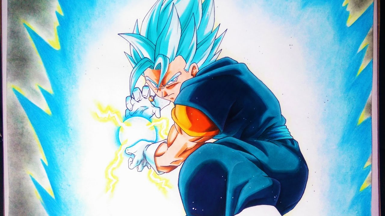 Dibujando A Vegetto/Vejito Super Saiyajin Azul. Drawing