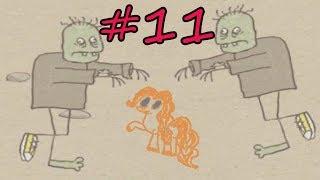 ЗОМБИ АТАКУЮТ!!! # 11. ПИНКИ ПАЙ ПРОТИВ ЗОМБИ В ИГРЕ Draw a stickman. Прохождение от Литл тойс.