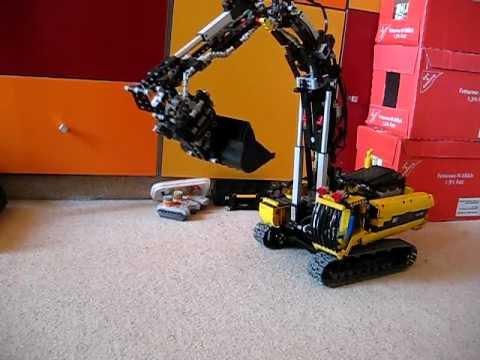 Lego Technic 2019 >> Lego Technic Rototilt / Tiltator für 8043 Ultimate Mod. und Cat 385C - YouTube