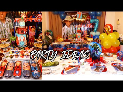 Avengers Birthday Party Ideas DIY /Party Games For Kids /Kid's Party Ideas ( Anniversaire Avengers )