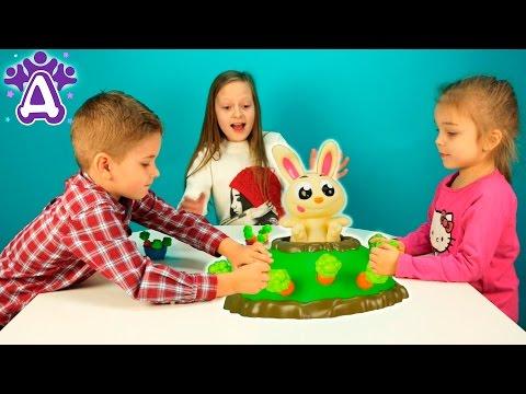 Прыгающий кролик Джек игры для детей распаковка.Jumping Jack Game Games for children Видео для детей