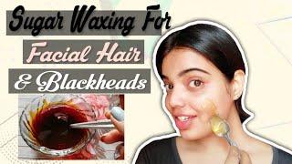 Homemade Wax for facial hair & blackheads.