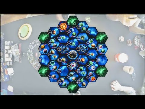 6 Player Twilight Imperium 4th Edition Time-lapse (10 Hours)