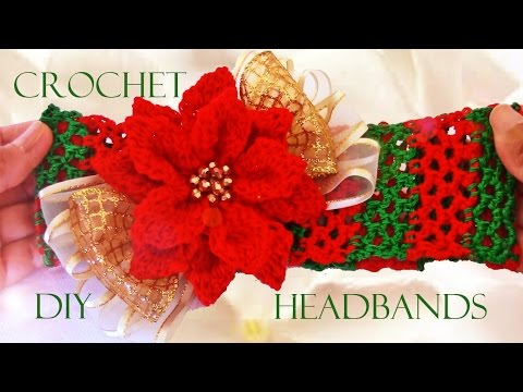 Download video diy diademas a crochet how to crochet - Diademas a crochet ...