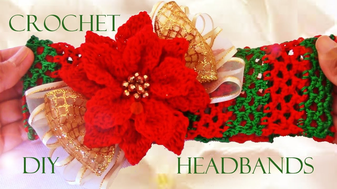Diy diademas a crochet how to crochet headbands youtube - Diademas a crochet ...