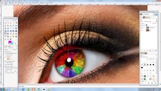 урок gimp №1(2). Меняем цвет глаз