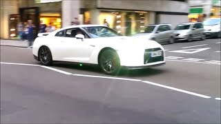 Supercars in London - (Insanely Loud Armytrix Nissan GTR Launch!!!)