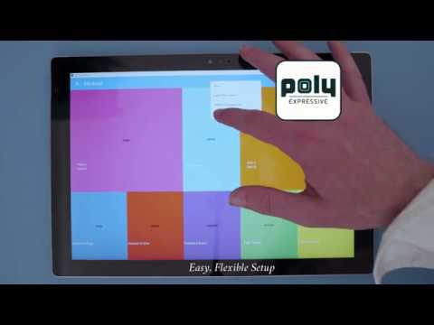 Poly Expressive setup app running on a tablet