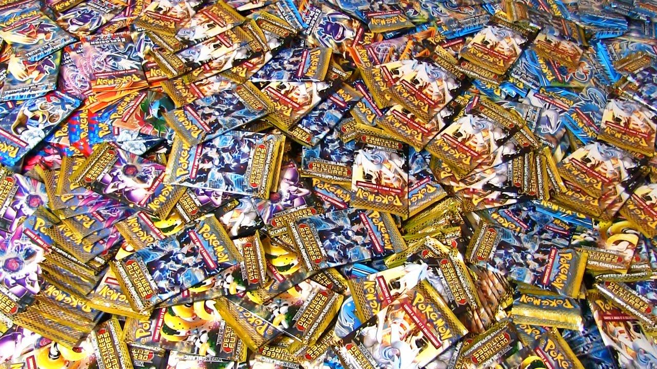 La plus grosse reception de booster pokemon au monde - La plus forte carte pokemon du monde ...