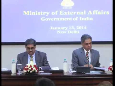 14 jan, 2014 - South Korean President to visit India to strengthen ties