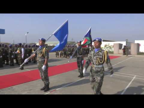 SRSG David Shearer receives Guard of Honor from UNMISS Peacekeepers