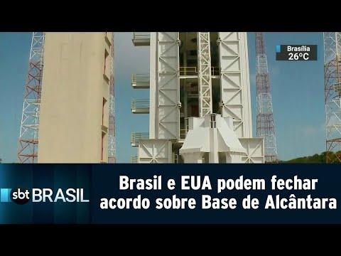 Brasil e EUA podem fechar acordo sobre Base de Lançamento em Alcântara | SBT Brasil (14/09/18)