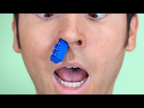 LEGO STUCK IN NOSE!