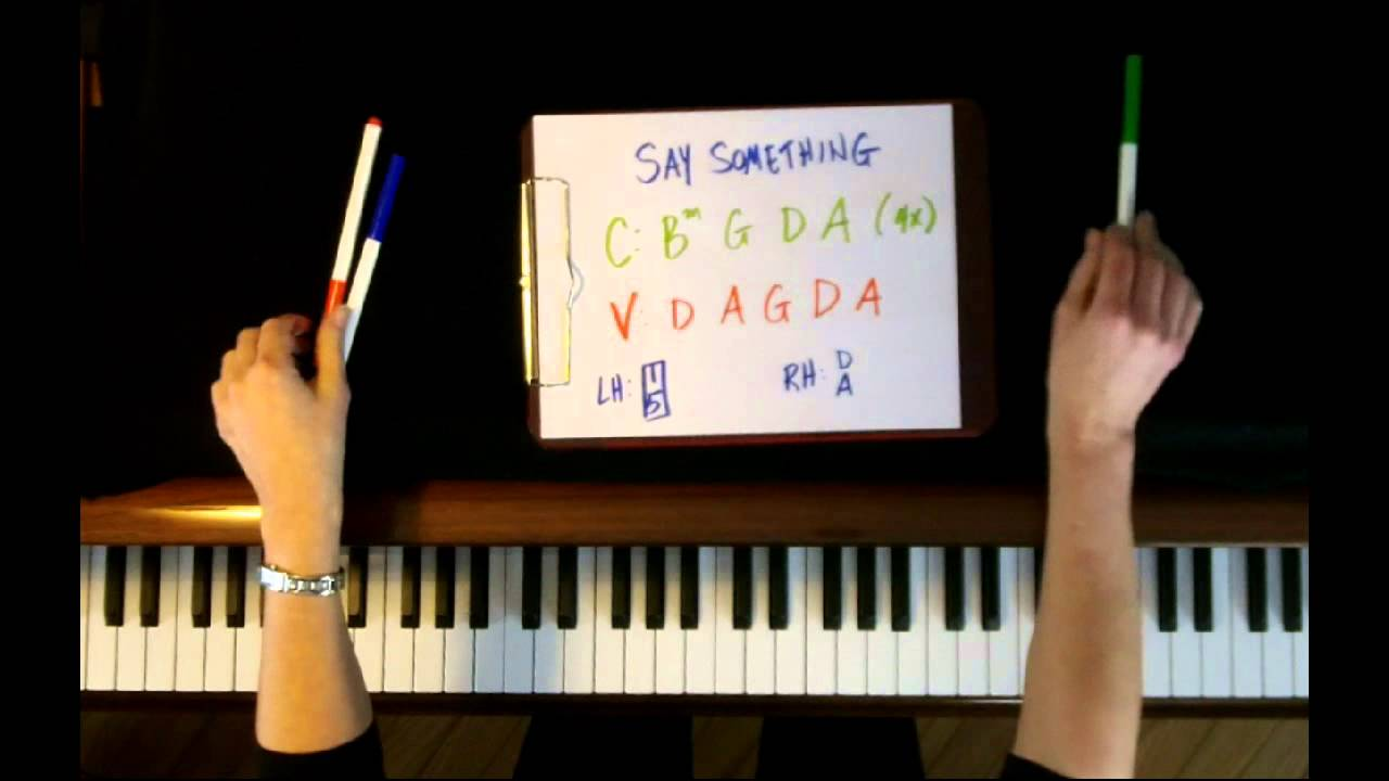 How to Play: Say Something by A Great Big World - Piano Tutorial - EASY!! - YouTube