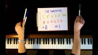 How to Play:  Say Something by A Great Big World -  Piano Tutorial - EASY!!