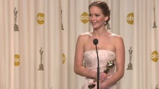 Download Raw: Jennifer Lawrence backstage after 2013 Oscar win Mp3 and Videos